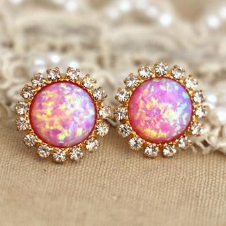 hair accessory earrings pink