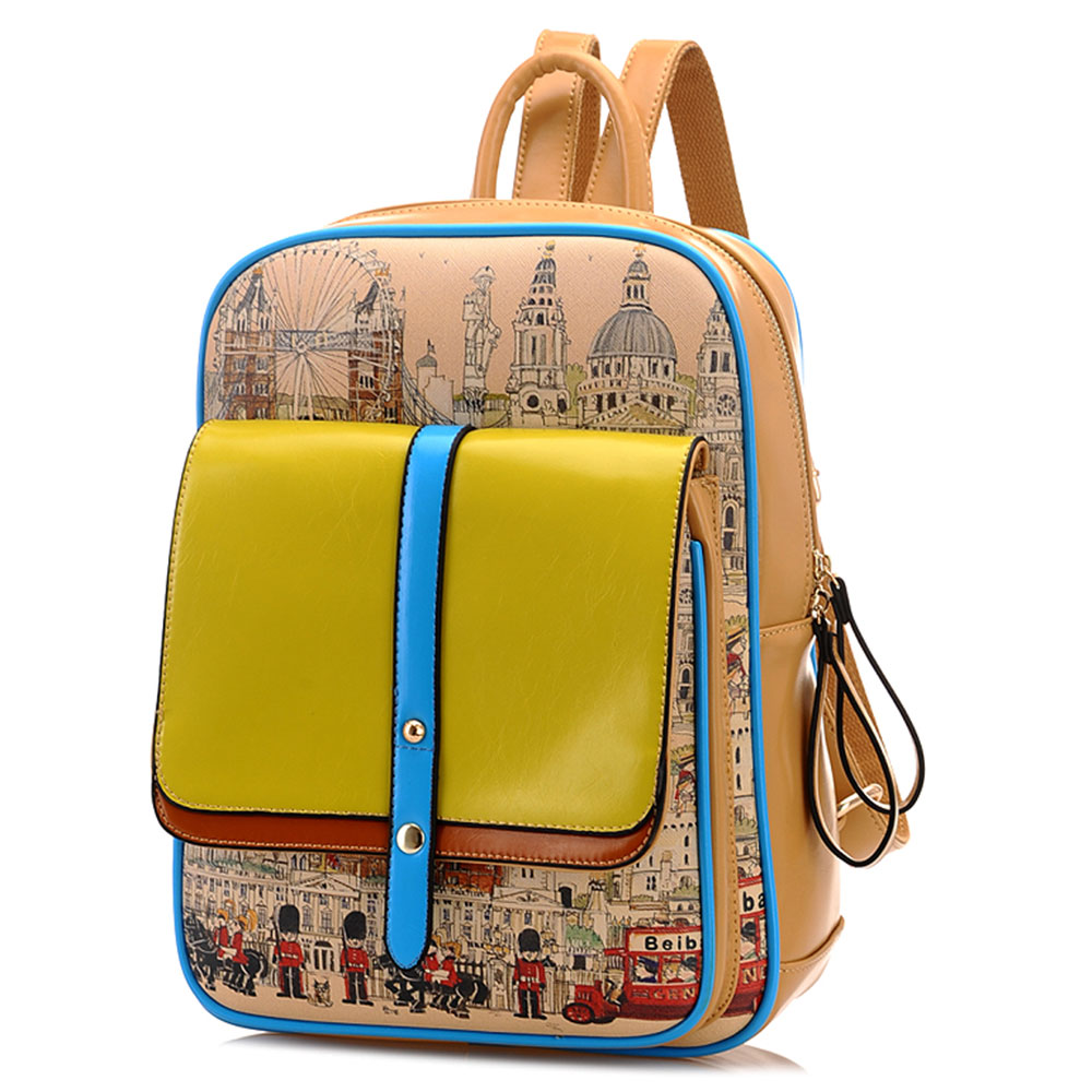 College Style Graffiti Backpack School Bag [grxjy520398] on Luulla
