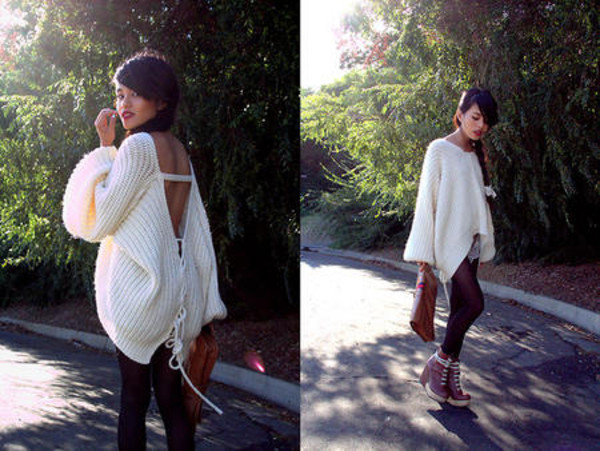 sweater sexy sweater tights shoes handbag bag
