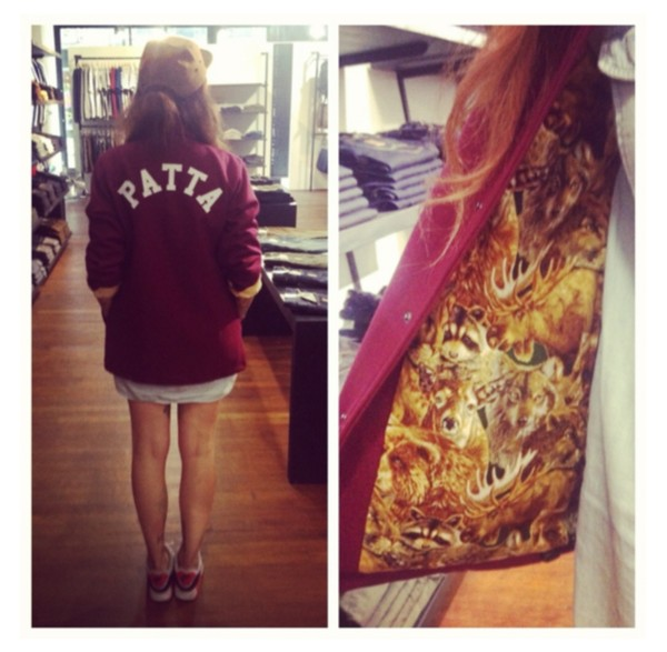 jacket patta red winter outfits beautiful coat