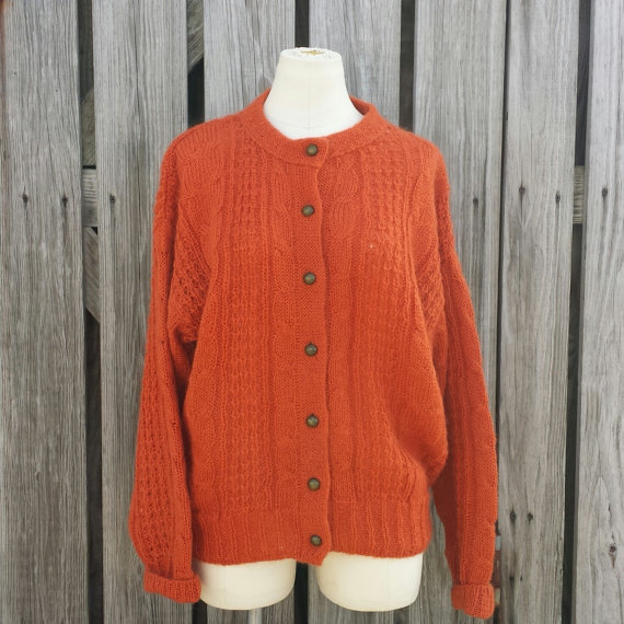 Vintage 1980s Forenza Burnt Orange Sweater  by TomieHarleneVintage