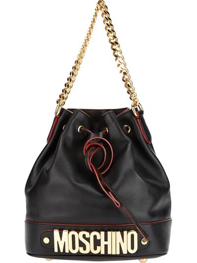 Moschino Bucket Logo Shoulder Bag - Stefania Mode - Farfetch.com