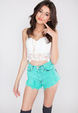 Cindy Lace Bustier - White