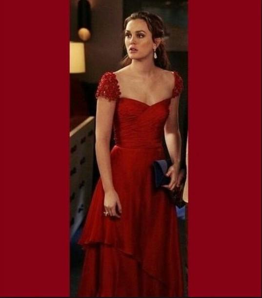 dress gossip girl blair red dress