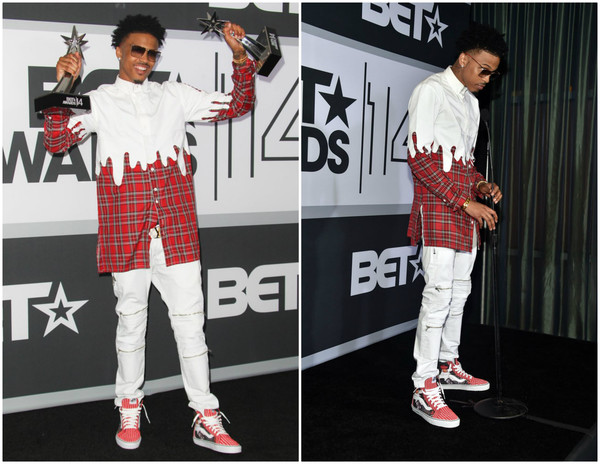 top flannel painting dripping awards girl plaid button up august alsina menswear