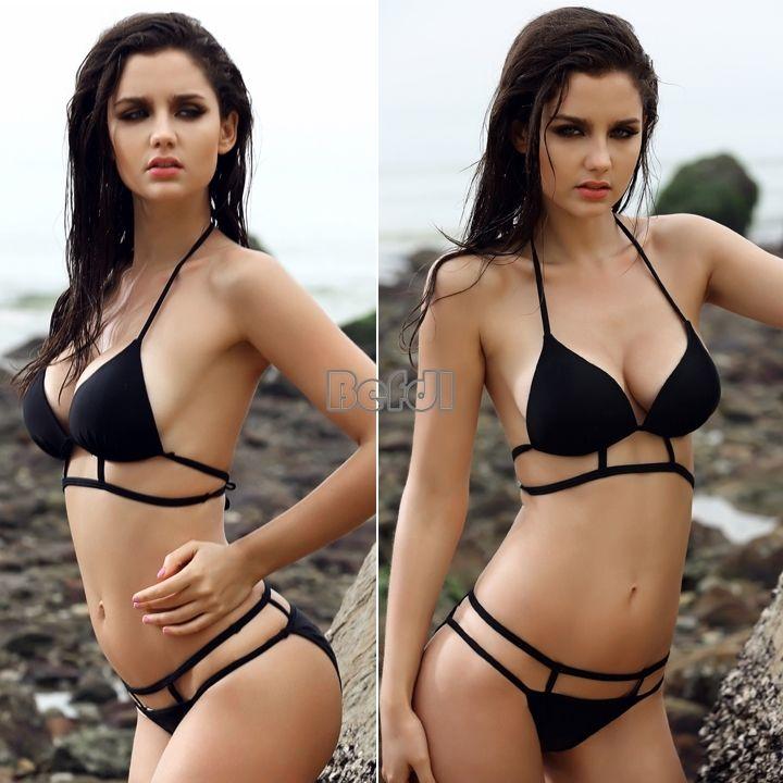 Bikini Set Bathing Suit Beach Wear Swimwear Women Caged Geometric Cutout Padded   eBay