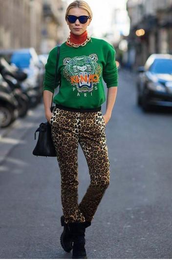 Embroidery tiger head long sleeve fleece(10 colors)_Sweatshirts_CLOTHING_Voguec Shop