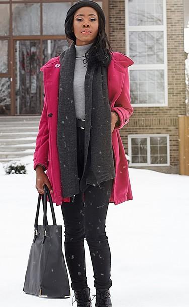 bag pink coat