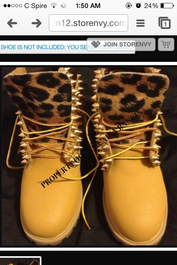 shoes leopard timberlands yellow gloves
