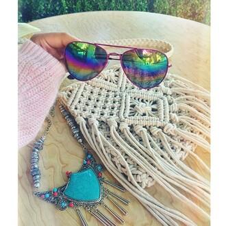 bag boho hippie geflochten tasche handtasche shoulder bag bohemian boho chic indie gypsy etc summer 2014 rope