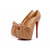 2012 Christian Louboutin 20 Years Lady Gres 160mm Leather Peep Toe Pumps