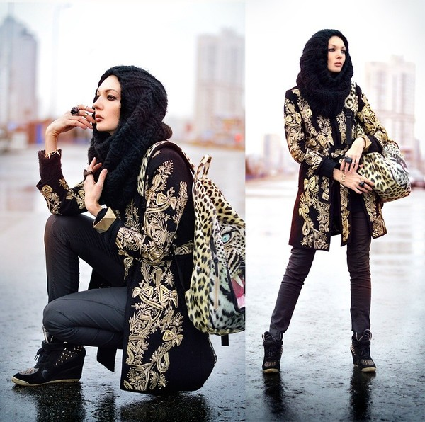 coat jacket clothes top floral gold fashion