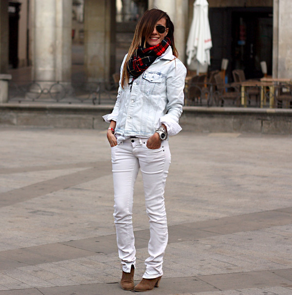 rebel attitude jacket jeans scarf shoes bag