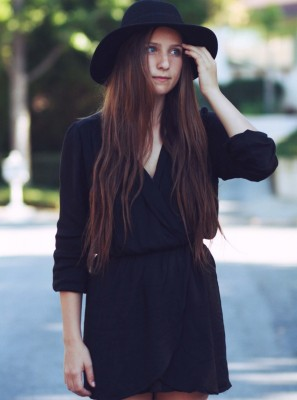 LOVE Black Long Sleeve Wrap Dress - In Love With Fashion