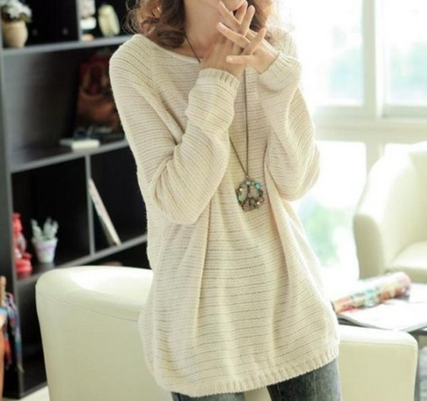 sweater leisure batwing sleeve