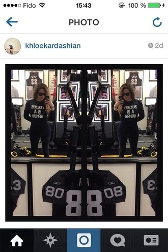 shirt celebrity khloe kardashian kardashians jersey yeezus kanye west west number