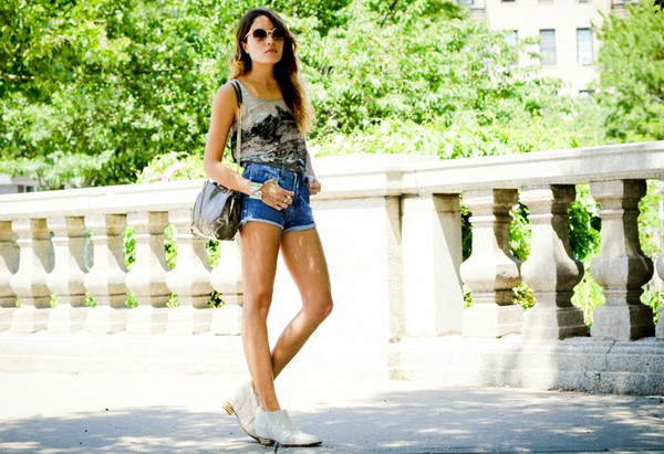 the marcy stop sunglasses belt bag jewels shorts tank top