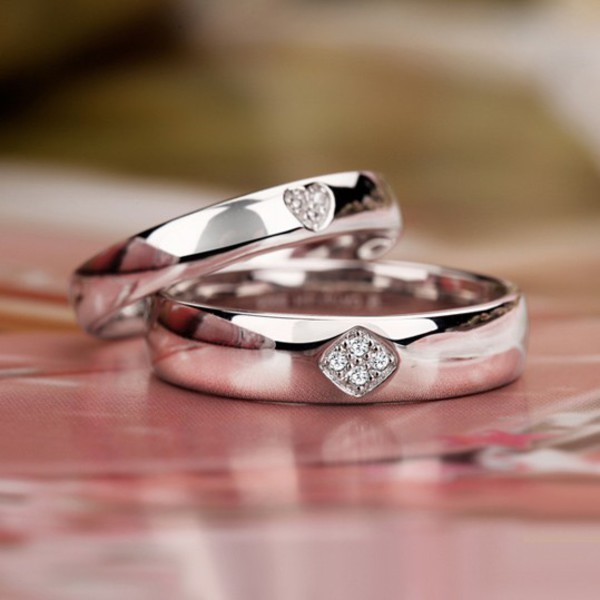 jewels engagement ring promise rings engagement ring matching rings his and hers rings sterling silver rings anniversary rings engravable rings engravable jewelry personalized rings for 2 diamond rings heart jewelry anniversary gifts couples jewelry