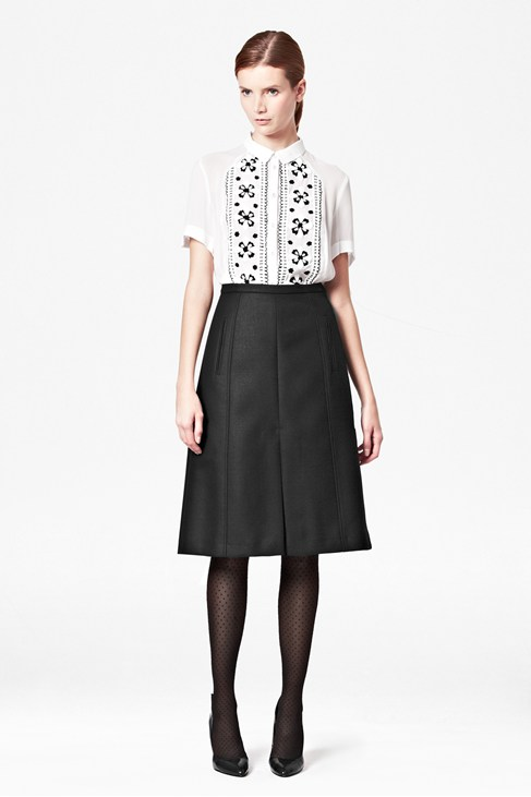 Battersea Wool Skirt - Skirts - French Connection Usa