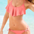 Halter Top Peplum Elegant Bikinis : KissChic.com