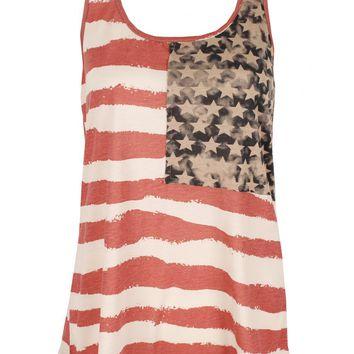 Vintage American Flag Vest Top -  from Lavish Alice UK on Wanelo