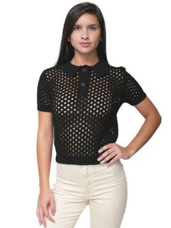 Amazon.com: American Apparel Open Knit Tennis Shirt: Clothing