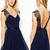 Mini V Neck Belt Outgoing Dresses : KissChic.com