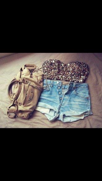 shirt shorts bag top sequin dress sparkle glitter sleeveless