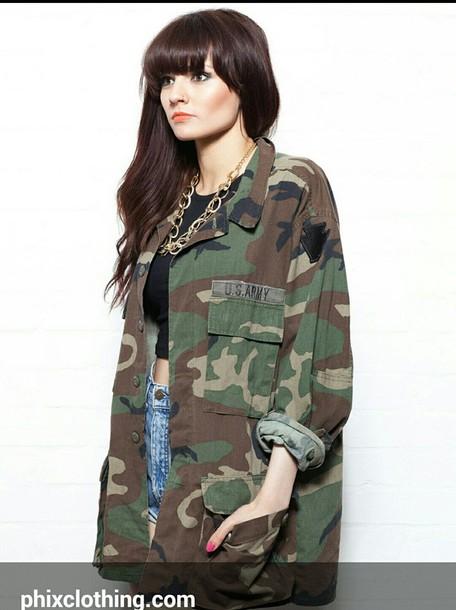 shirt army camo jackets oversized jacket boyfriend shirt