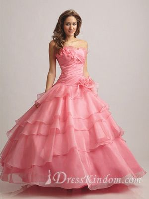 Elastic Woven Satin Sweetheart Floor-length Quinceanera Dresses without Redundant Ornaments [10106136] - US$186.99 : DressKindom