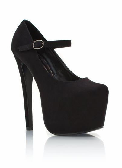 GJ   Mary Jane Platforms $30.00 in BLACK TAUPE - Ankle Straps   GoJane.com