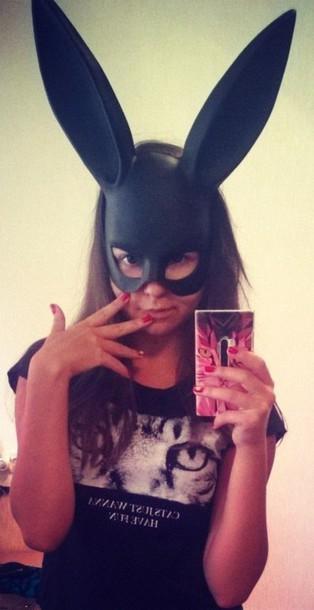 hat black mask