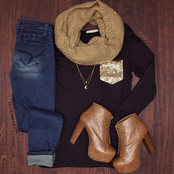 shirt scarf shoes