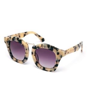 ASOS | ASOS Handmade Acetate Retro Sunglasses With Metal Bridge Detail at ASOS