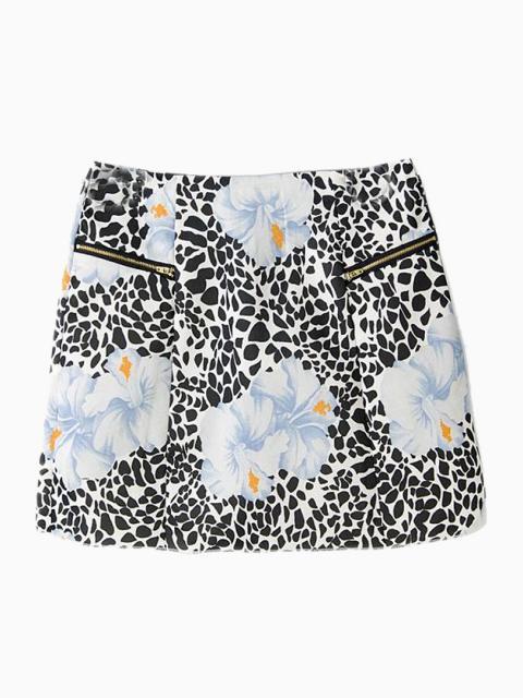 Spot Floral Print Mini Skirt   Choies