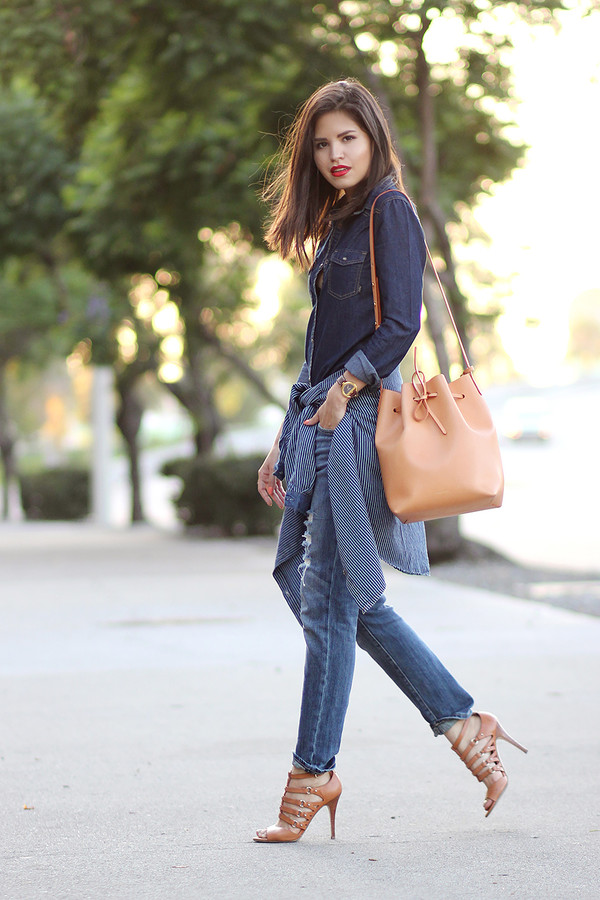 fake leather jeans shoes jewels bag