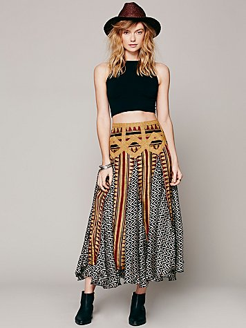 Lotta Stensson    Maracana Silk Skirt at Free People Clothing Boutique