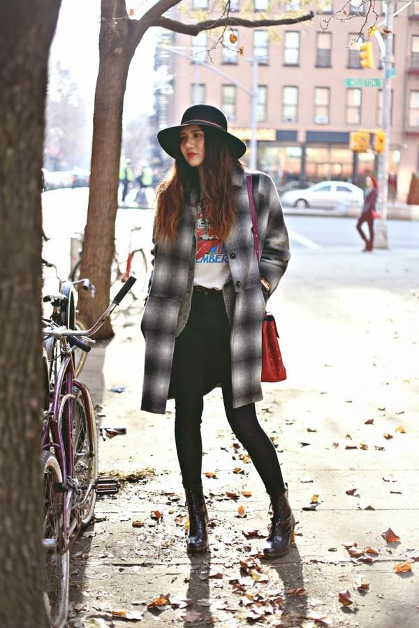 color me nana coat jacket t-shirt jeans shoes hat bag