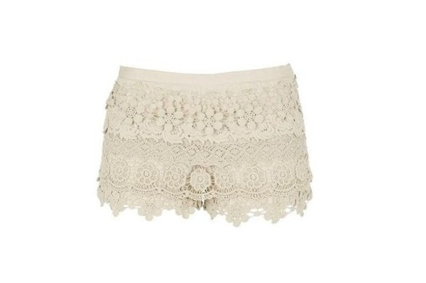river island crochet shorts vintage lace brown shorts white shorts pink shorts yellow shorts
