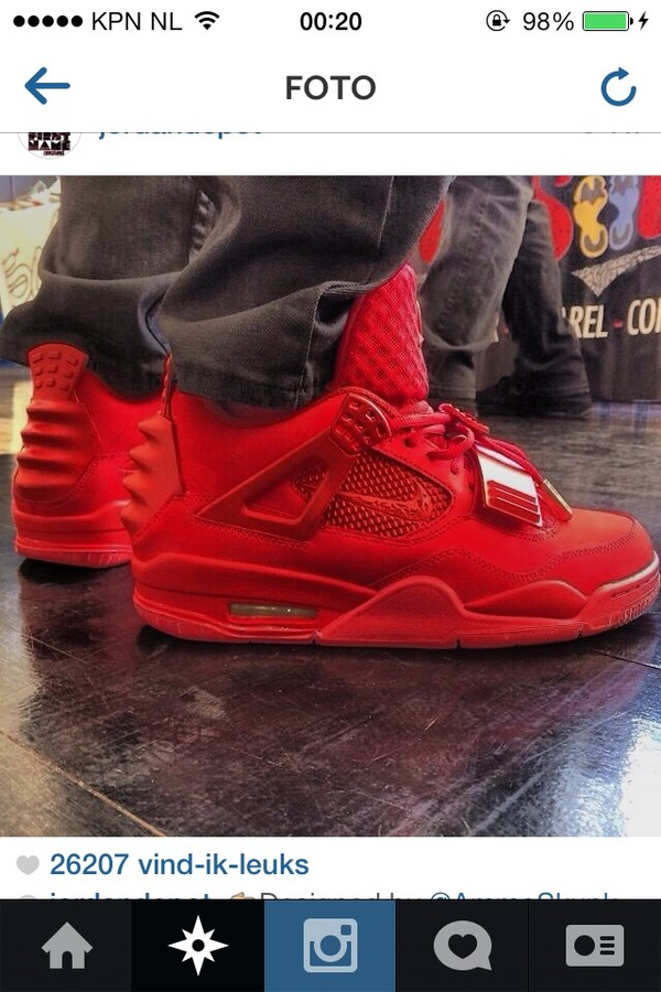 shoes red jordans