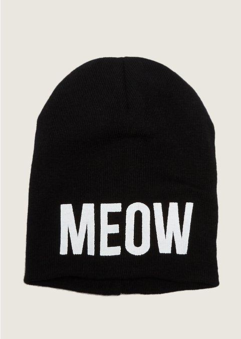 Meow Knit Slouch Hat | Hats | rue21 on Wanelo