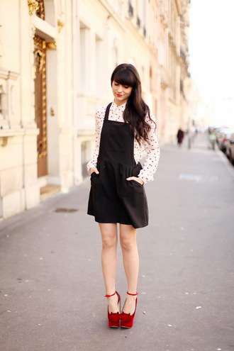 the cherry blossom girl dress blouse shoes