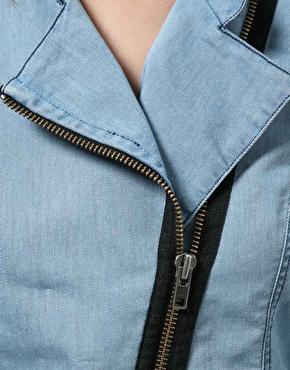 Dagmar | Dagmar Dafne Biker Denim Jacket at ASOS