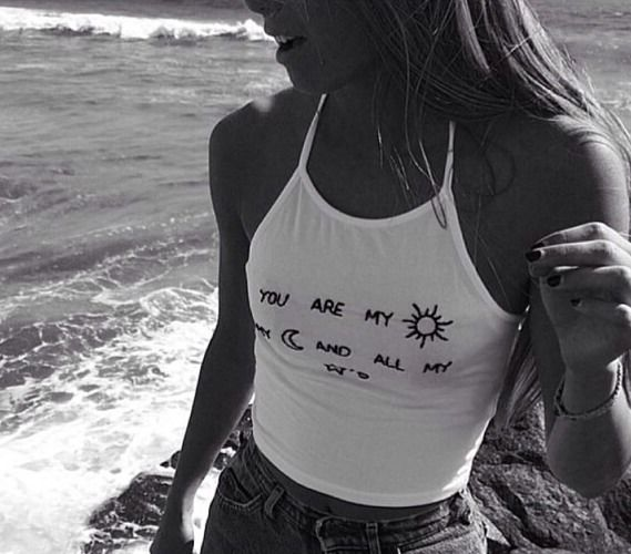 Brandy Melville Sachi Halter Crop Cami Tank White Emboidery You Are My Moon | eBay