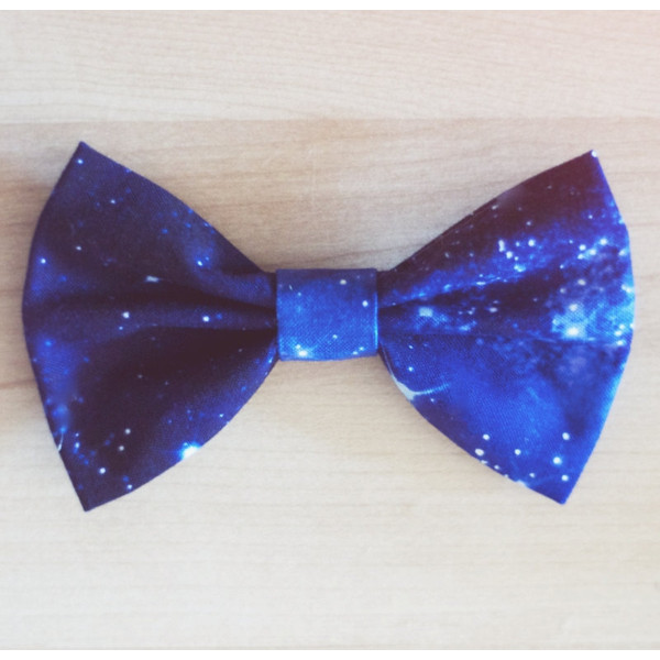 Star Constellation Outer Space Hair Bow / Bow Tie Pin - Polyvore