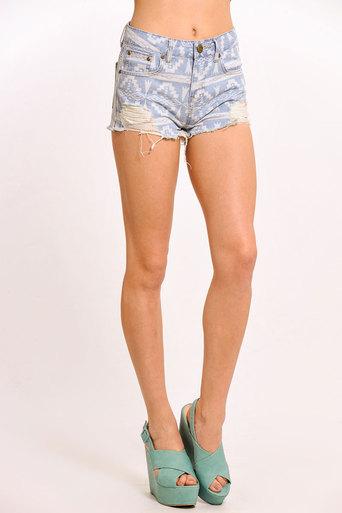 Galiana Aztec Print Shorts - Pop Couture