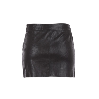 milly leather mini skirt in black shimmer | eve's apple