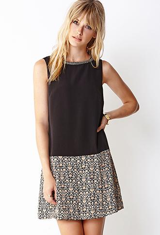 Fancy Drop Waist Dress | LOVE21 - 2040495183