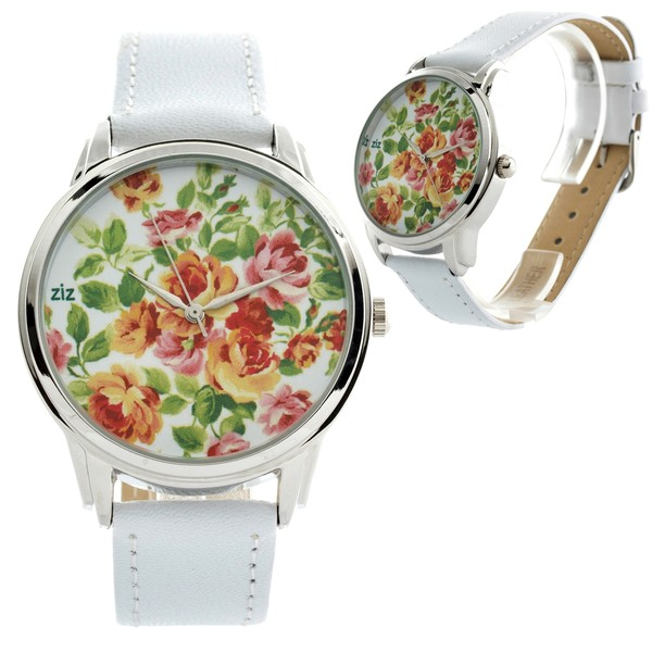 jewels flowers watch watch white ziz watch ziziztime