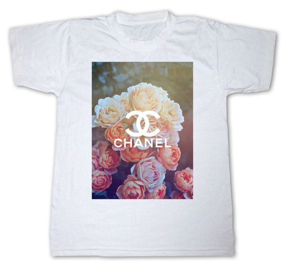 CHANEL Flower LIMITED DIY swag tumblr dope hipster t-shirt shirt top …